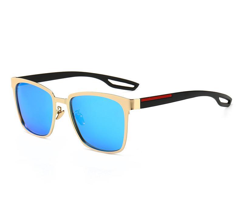 Vente en gros-nouvelle mode Vintage conduite Lunettes de soleil pour hommes Sports de plein air Designer Lunettes de soleil pour hommes Meilleure vente de lunettes Lunettes 6 Couleur Avec boîte