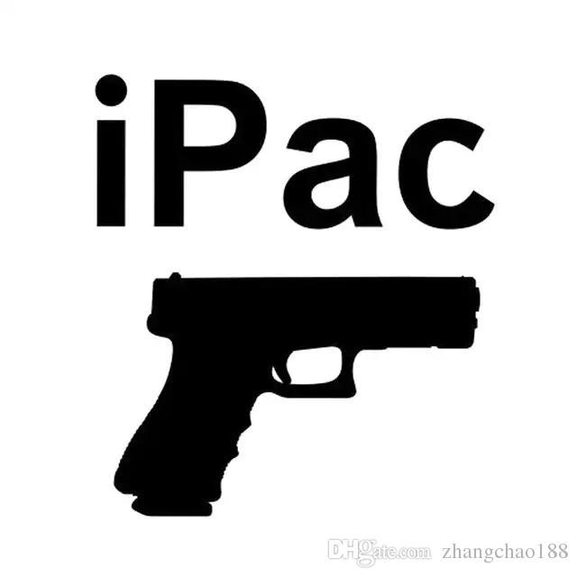 12.7 * 14.2CM IPAC أسروا حمل مسدس مائي تحذير اليد بندقية 9MM الفينيل صائق السيارات CA-1147