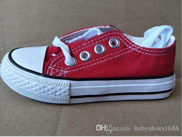 Marca especial crianças sapatas de lona de moda de alta-baixa Sapatilhas meninos meninas esportes sapatas de lona e esportes estrela crianças sapatos, tamanho 24-34