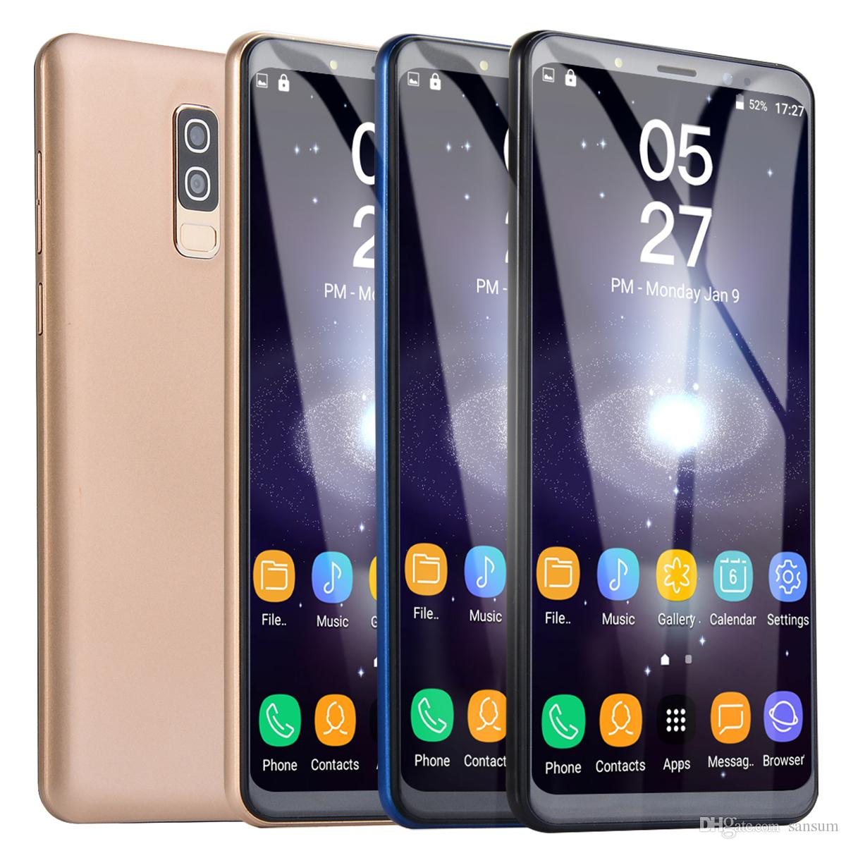 Goophone S9 5.72inch MTK6580 Unlocked cell phone Quad Core Android 5.0 1G+4G show 4G+32G with Dual SIM