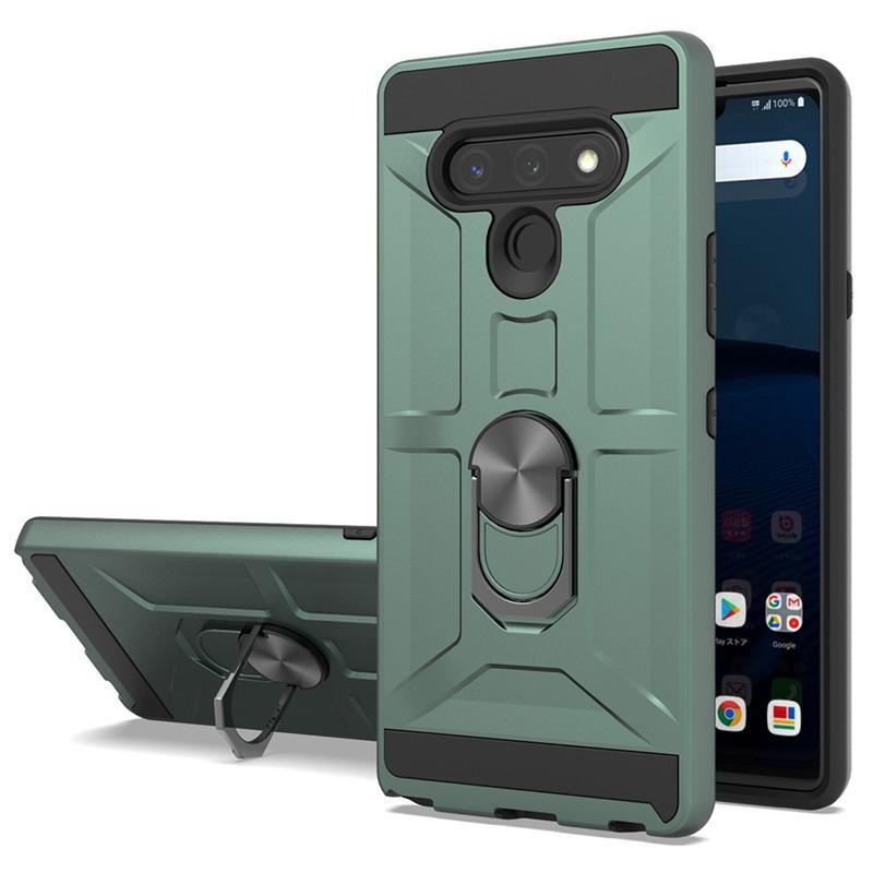 For LG K51 Case TPU Hard PC For G8 power Case Ring Holder Stand Magnetic Armor Phone Case For LG stylo 6
