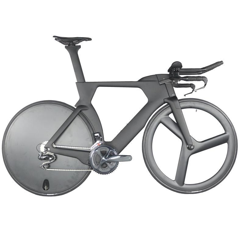 Complete bicycle bike01 Time Trial Triathlon carbon fiber black paint intergrated handlebar with R8060 Di2 groupset