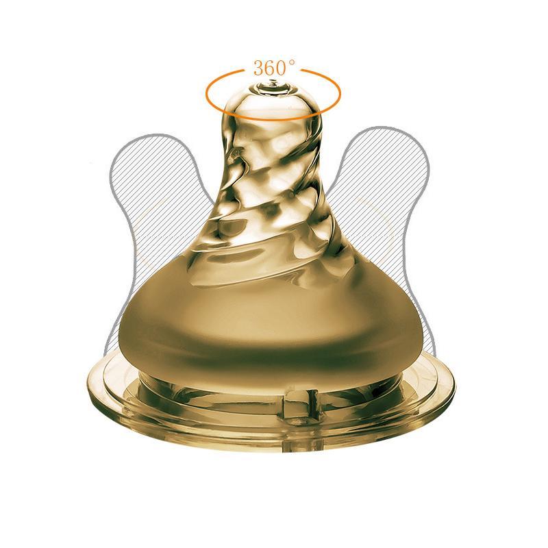 عالية الجودة نانو الفضة الرضع سيليكون الحلمة الوليد الطفل لينة تغذية الحلمة اللهايات BPA مجاني 4 الحجم