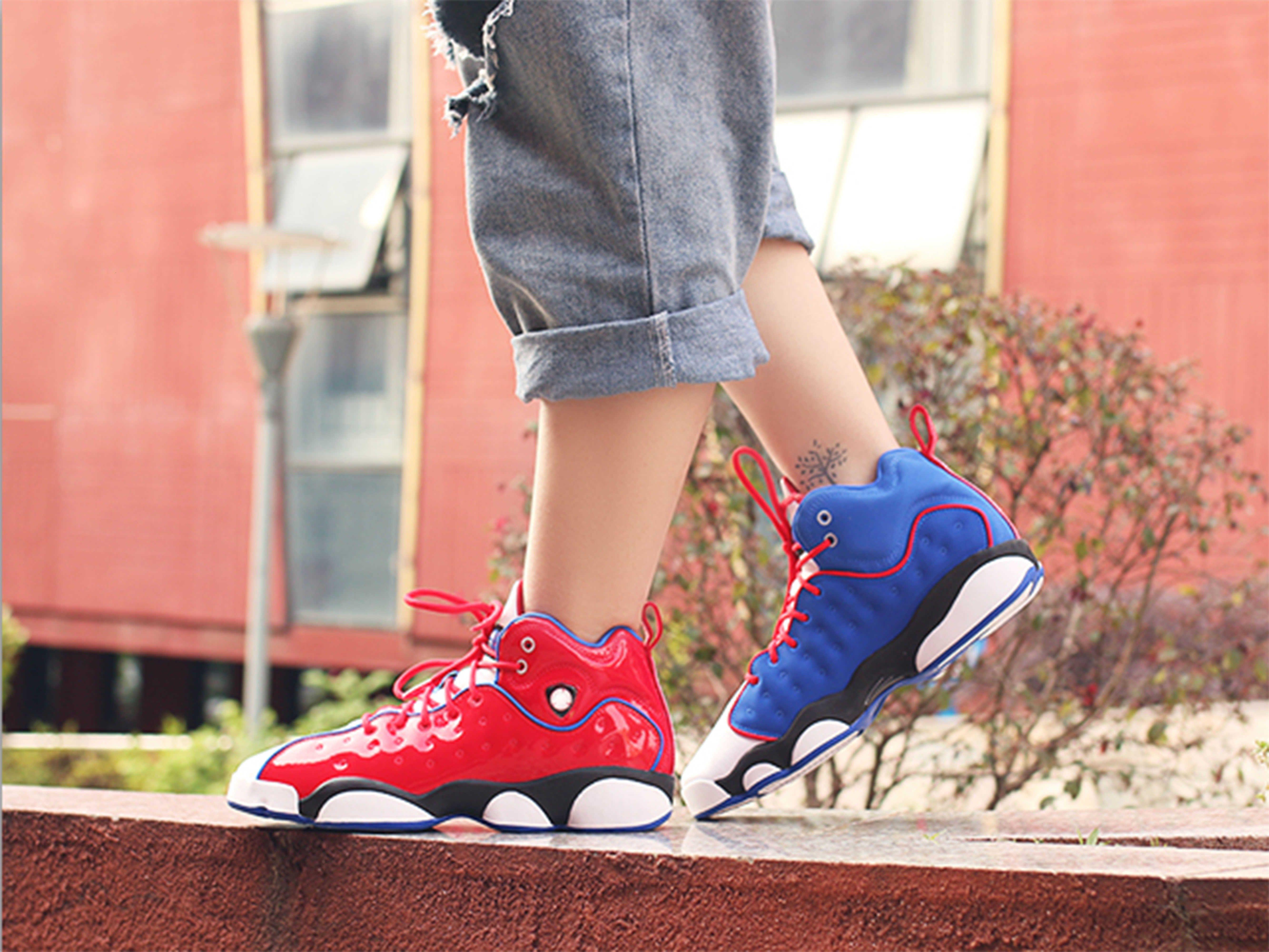2020 Xiii 13 Jumpman Takım Ii Mandarin Duck Erkek Kırmızı Mavi Basketbol Ayakkabı Melo Dmp Hiper Canlılık Royal Spor 13s Eğitmenler Spor ayakkabılar Hit
