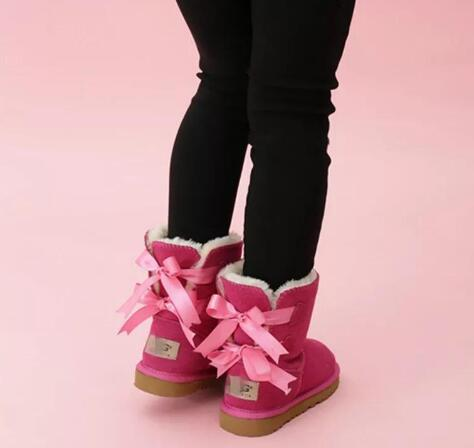아이들 베일리 2 개 활 부츠 정품 가죽 유아 스노우 부츠 솔리드 Botas 보낸 데 니베 겨울 여자 신발 유아 여자 부츠
