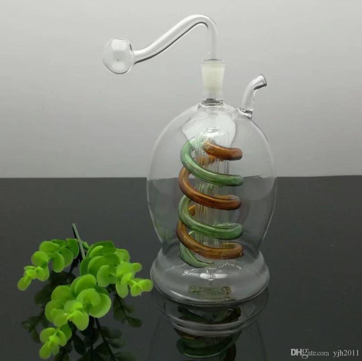 bottiglia di vetro da fiuto Bbong Wwater tubo di titanio chiodo grinder, Bubblers di vetro per il tubo di fumo di colori della miscela