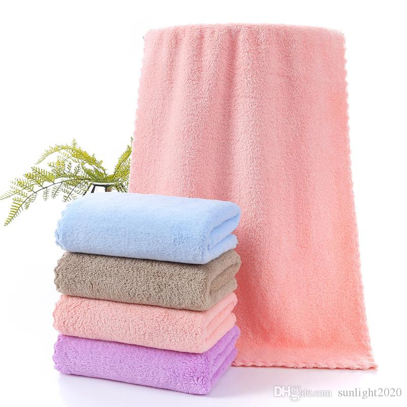 المرجان الصوف منشفة 35 * 75 ستوكات منشفة الوجه عادي منشفة فائقة الامتصاص