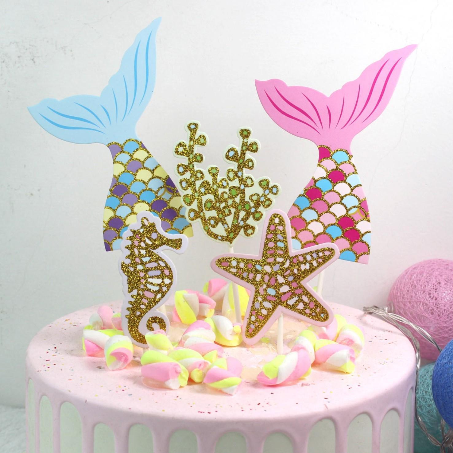 Sirena Decoraciones Para Fiestas Cumpleaños Baby Shower De Niña Globos Sirenas