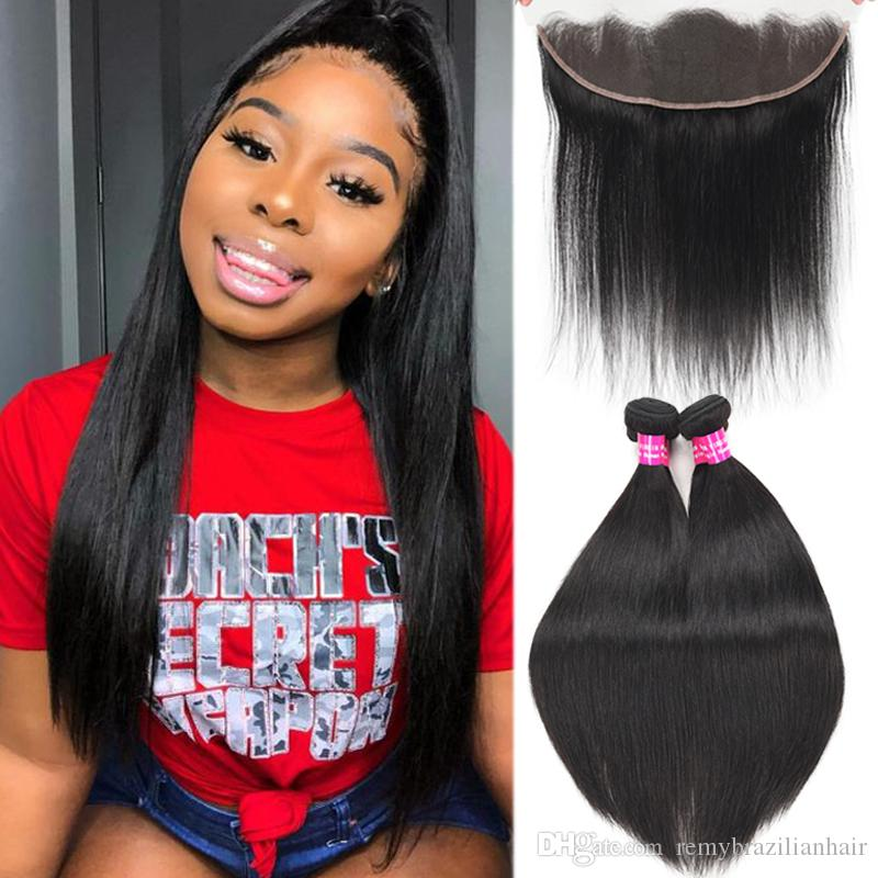 Remy Brazilian Virgin Hair With 13x4 Ear To Ear Lace Frontal Closure Body Deep Wave Kinky Curly Water Wave Loose With 13X4 Frontal Closure