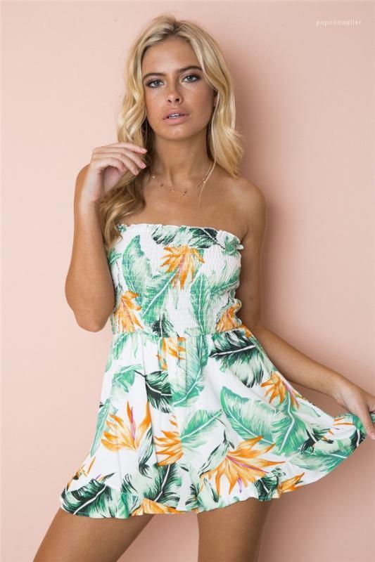 Tek Parça Şort Sexy Lady Uzun Kol Çiçek Giyim şifon Orta Bel Giyim Kadınlar, Off The Print Omuz
