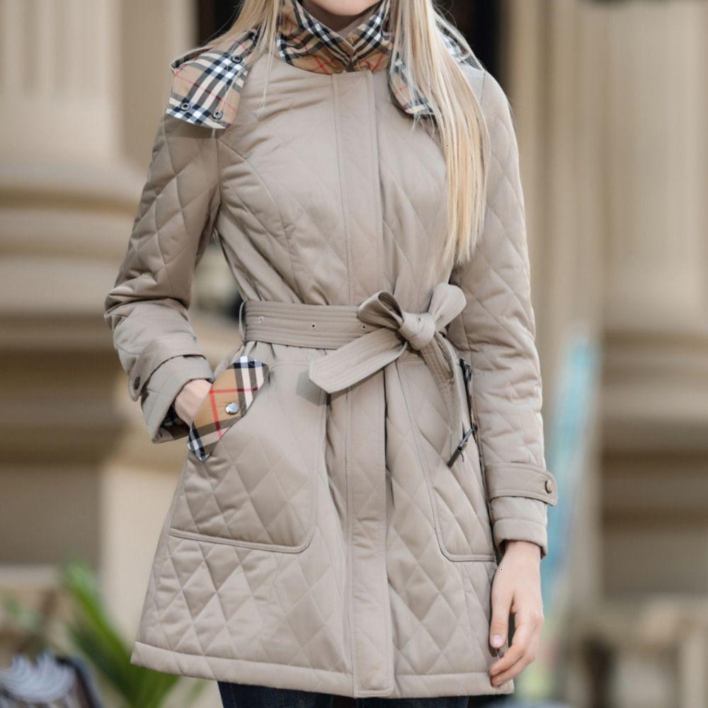 veste tendance veste des femmes d'Asie S-2XL WSJ002 mode casual hiver de haute qualité nouveau long paragraphe rhombique manteau jacket98