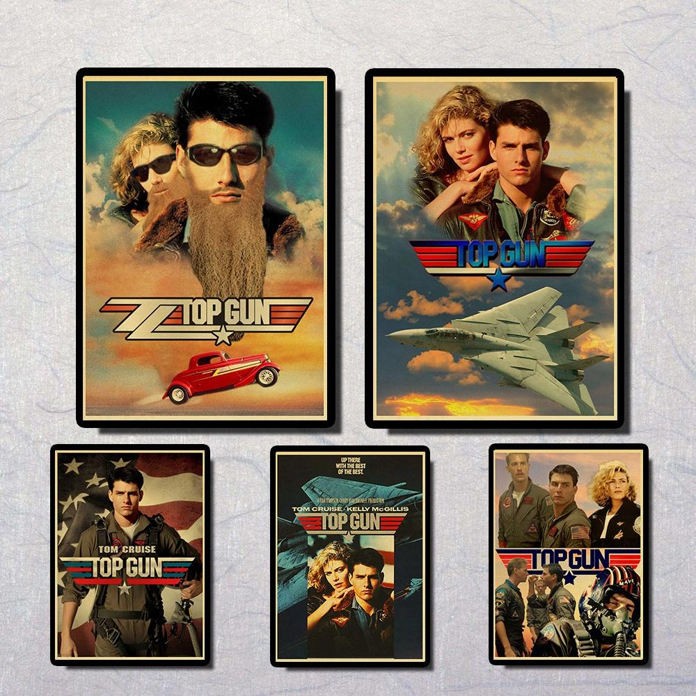 Top Gun Tom Cruise Kelly McGillis Vintage Paper Poster Wall Painting Home Decoration 42X30 CM 30X21 CM