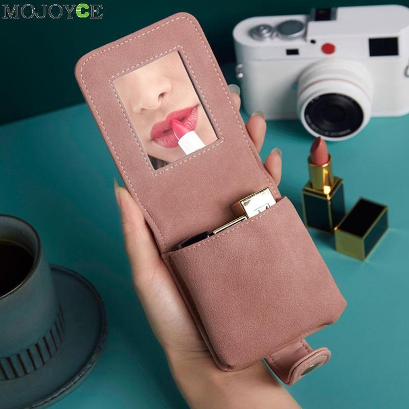 Moda Mini Batom Bag portátil Viagem Cosmetic Makeup Organizer Caso PU Leather Mulheres de Higiene Pessoal Marca Up Bolsa de armazenamento