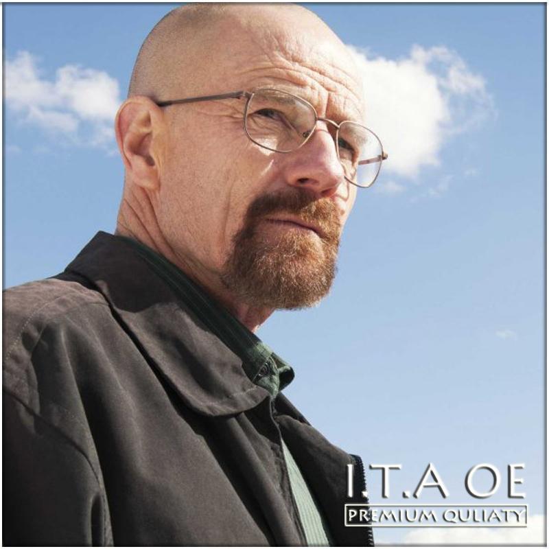 Al por mayor-Walter White Full Rim Breaking Bad aleación del estilo de Unisex Hombres Mujeres La miopía de lectura óptica Gafas monturas de gafas Gafas