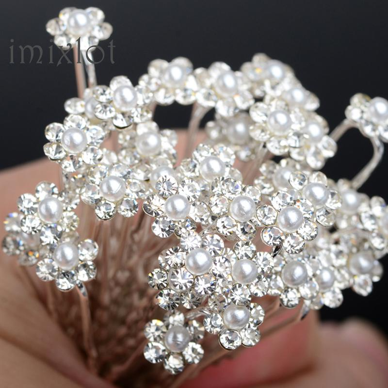 2019 Sale Plant Trendy New 40pcs Bridal Pearl Flower Hair Pins Bridesmaid Wedding Jewelry Clips U Pick Tiara Accessories