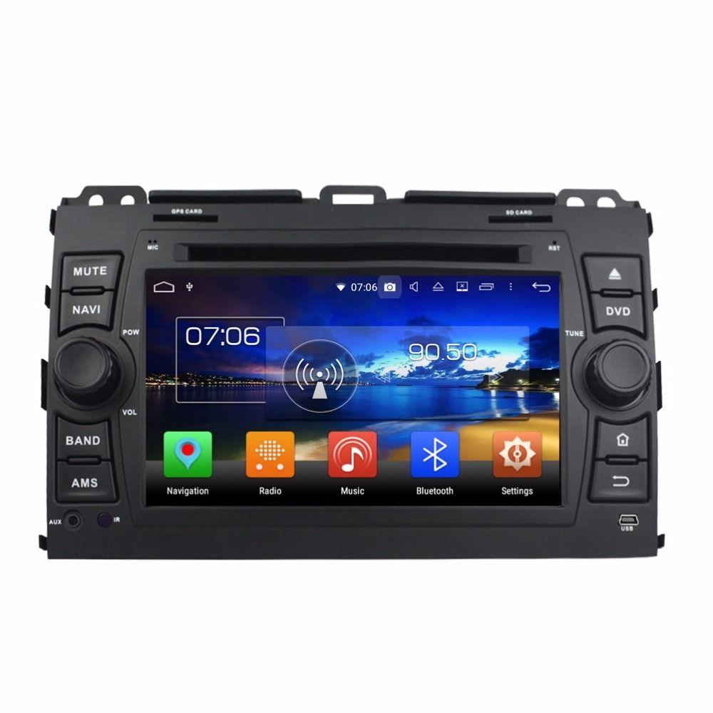 "1024*600 2 din 7"" Android 8.0 Car Radio DVD Player Car DVD for Toyota Land Cruiser Prado 120 2005 2006 2007 2008 2009 2010"