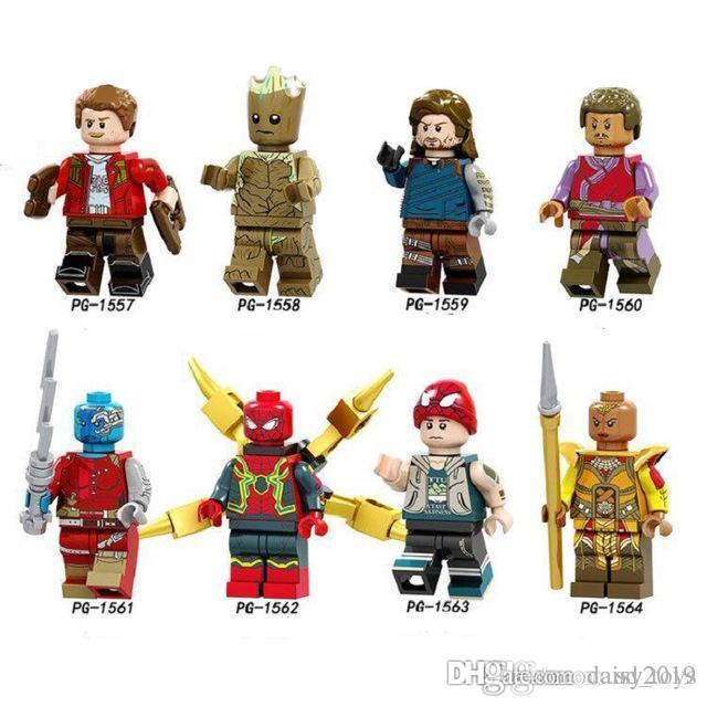 Super Heroes Infinity-Baum-Mann Wong Spiderman Stern-Lord Winter Soldat Kinder Geschenk Spielzeug PG8130