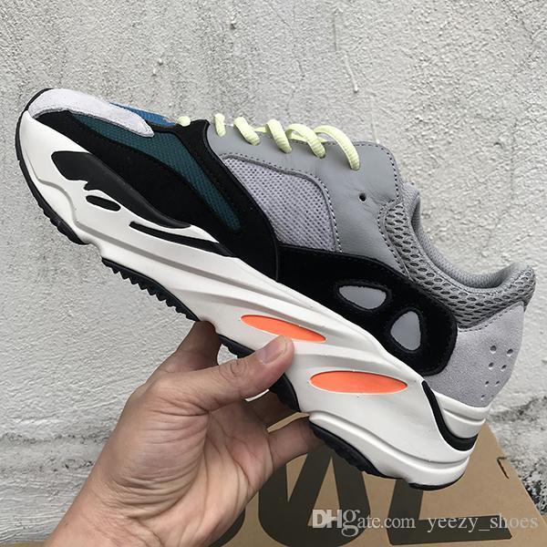 Kanye West Inertia 700 V2 Wave Runner Vanta Static Geode Mauve OG Сплошной Серый 700S Дизайнер Мужчины Женщины повседневная обувь Спортивные кроссовки 36-46