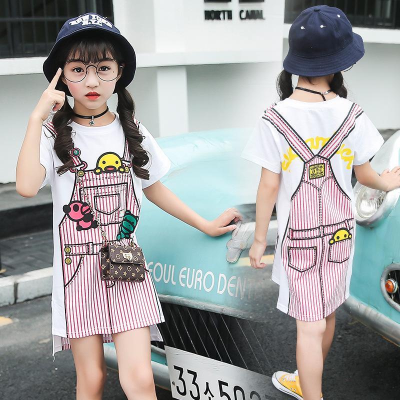 Платье для девочек малышей лето принцессы вскользь 2019 Мода Комбинезон шаблон 3 4 5 6 7 8 9 10 11 12 13 лет
