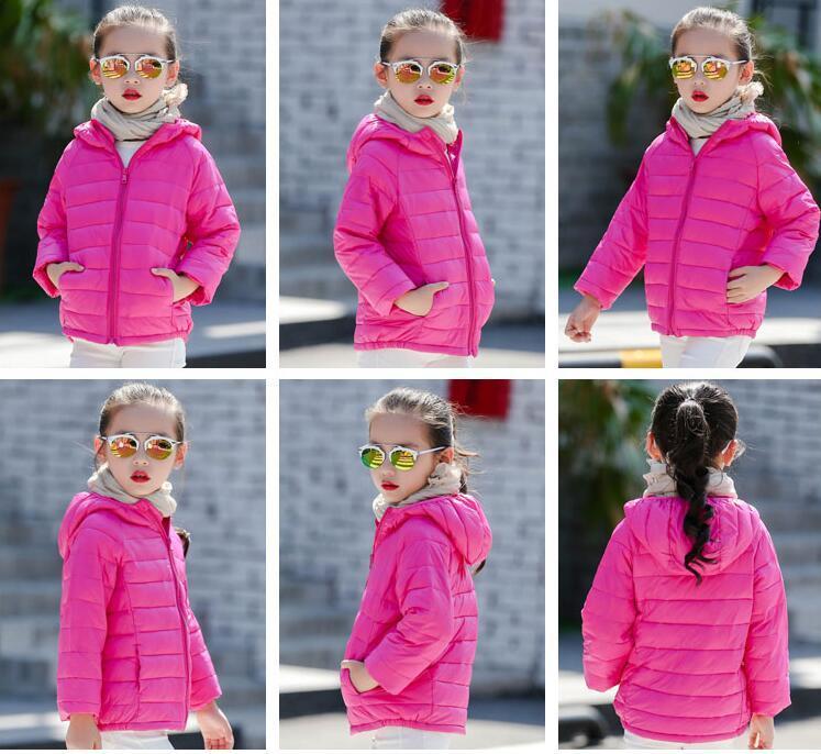 2020 Kinderoberbekleidung Junge und Mädchen-Winter-warmer Mantel mit Kapuze Kinder Baumwolle gefütterte Daunenjacke Kid Jacken 3-12 Jahre