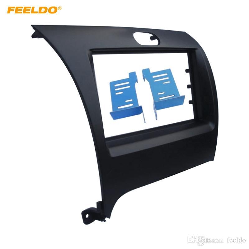 # 1016 KIA Cerato Forte K3 Paneli Yüz Plakası Çerçeve Trim Dağı Kit FEELDO Araç STERO Radyo 2DIN Paneli Kaplaması Çerçeve