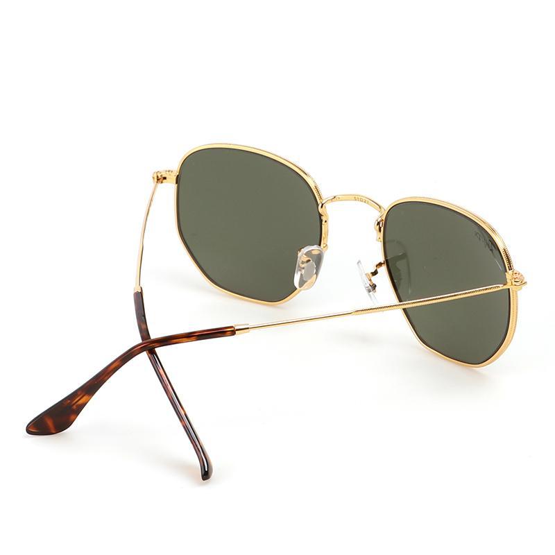 All'ingrosso-Soscar Moda esagonali lenti occhiali da sole di nuova marca di arrivo Designefor Donne metallo uomini Cornice di vetro delle lenti UV400 di alta qualità