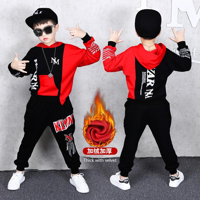 Kids Baby Boys Coat+Pants Casual Velvet Sports Hooded Jacket Trousers Clothes