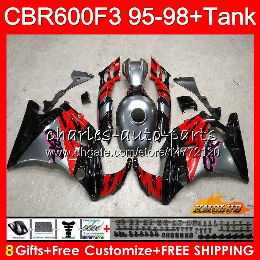 Honda CBR 600F3 600CC CBR600 F3 95 96 97灰色レッドホット98 41HC.AA CBR 600 FS F3 CBR600FS CBR600F3 1995 1996 1997 1997