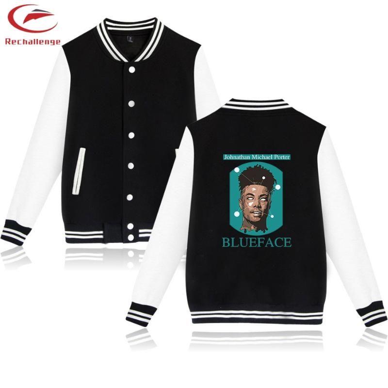 Blueface béisbol chaquetas 2019 Ropa de moda y chaquetas de la capa de la chaqueta de moda blueface La tendencia ocasional del hombre