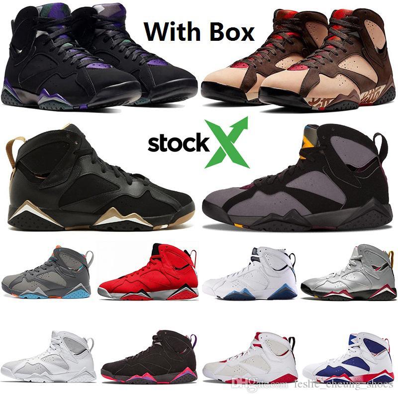 Nike Air Max Retro Jordan Shoes 13 Бордоский Заяц Рэй Аллен Патта 7s мужская баскетбольная обувь 7 VII Tinker альтернативные Олимпийские отражения чемпиона кроссовки с коробкой