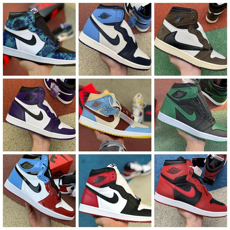 new High OG Mid Mens 1 Basketball Shoes Cheap Court Purple Chicago Retroes Banned Shadow Bred Red Blue White Black Toe Women 1s sport Shoes