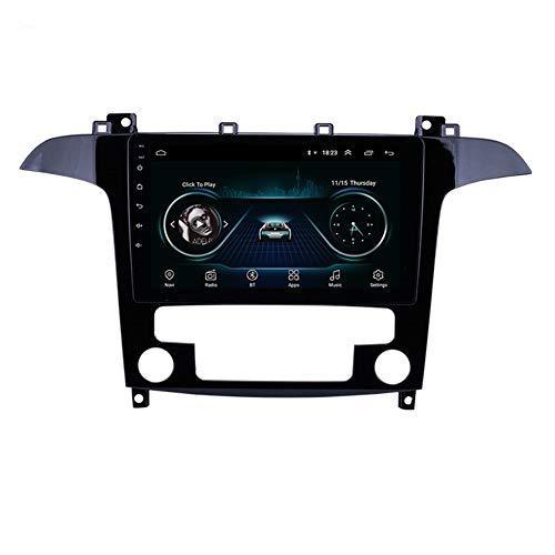 HD Touchscreen 9 polegadas Android 9.0 Car GPS Navigation Unidade de cabeça para 2007-2008 Ford S-Max Auto A / C com suporte Bluetooth AUX Carplay DAB +