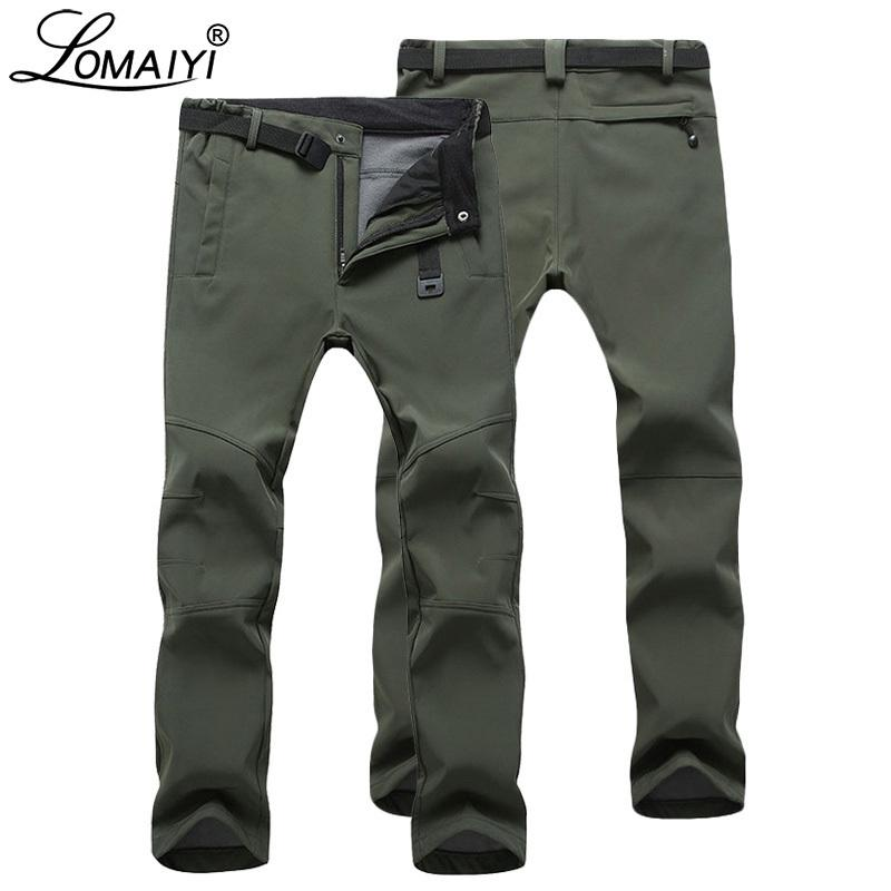 Lomaiyi Men's Warm Winter For Men Stretch Wateproof Mens Thermal Trousers Male Black Casual Work Pants Man Am054 SH190816