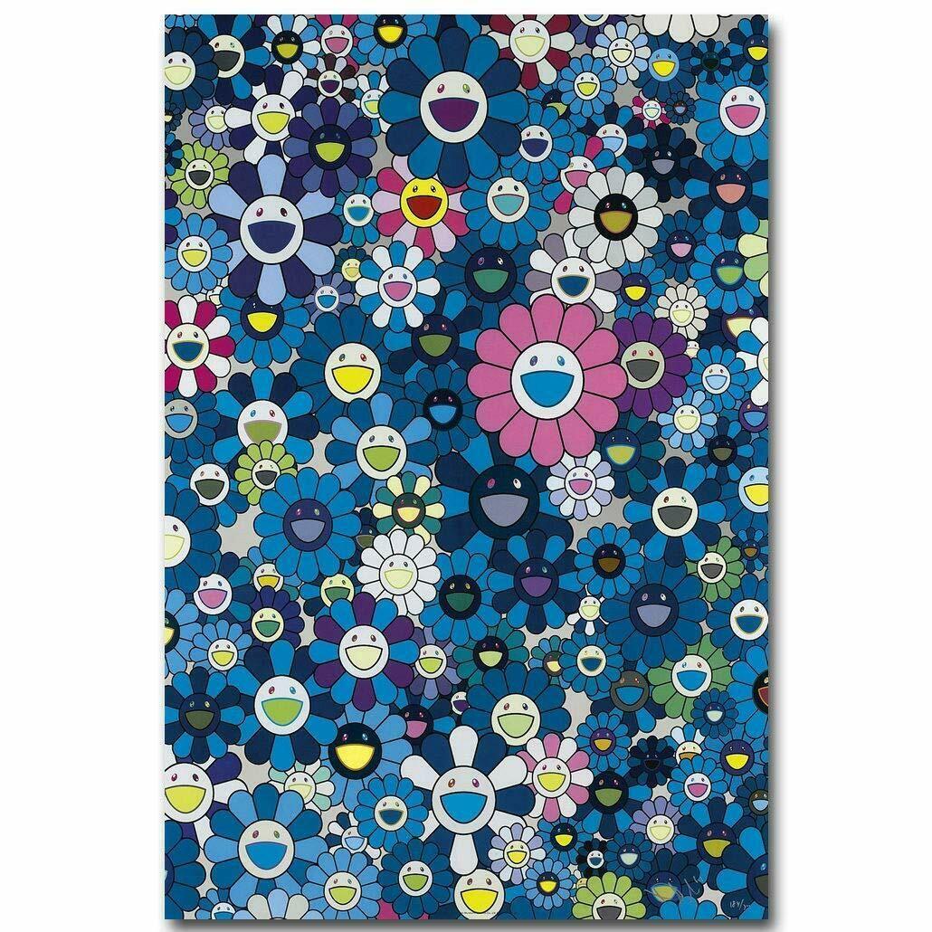 Murakami Takashi Japaner Pop Kaikai Kunstgeschenke Seidenplakat Gemälde