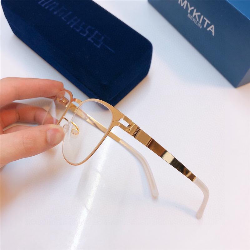 Новое высокое качество BUD Mykita сверхлегкая рамка без винтов эластичная нержавеющая мода женщины оптические очки мужчины очки с оригинальным корпусом