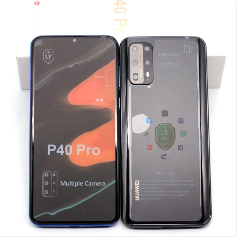 Goophone P40 Pro 6.5inch Android 9.0 fake 4G lte 5G 8MP Camera GPS Wifi fingerprint Unlocked Smart Phone ePacket