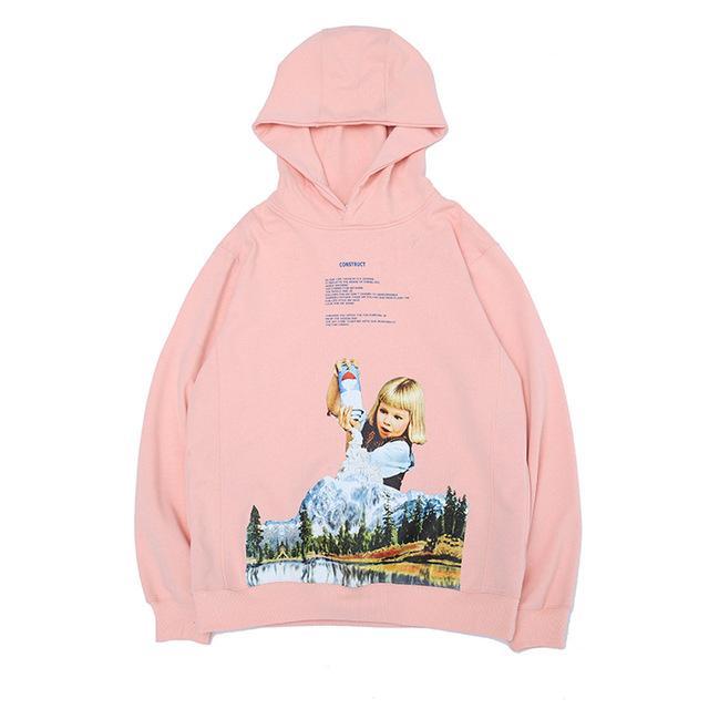 Drôle d'hiver Sweats à capuche Hommes Femmes Mignon graphique Cartoon Imprimer Hoodie Top coréenne Mode Streetwear Sweat à capuche