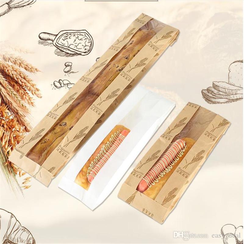 크래프트 종이 빵 지우기 창 식품 내유 패키지 케이크 가방 파티 베이킹 테이크 아웃 식품 가방 yq00836