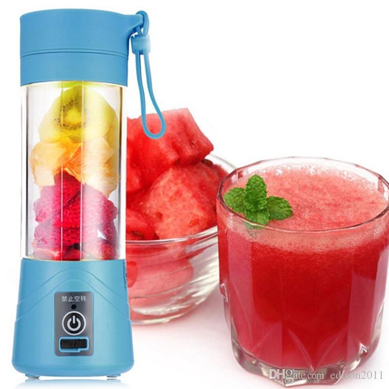 380 ml 4/6 lames mini USB rechargeable portable électrique fruits Juicer Smoothie Maker Blender Machine Sports bouteille Juicing tasse