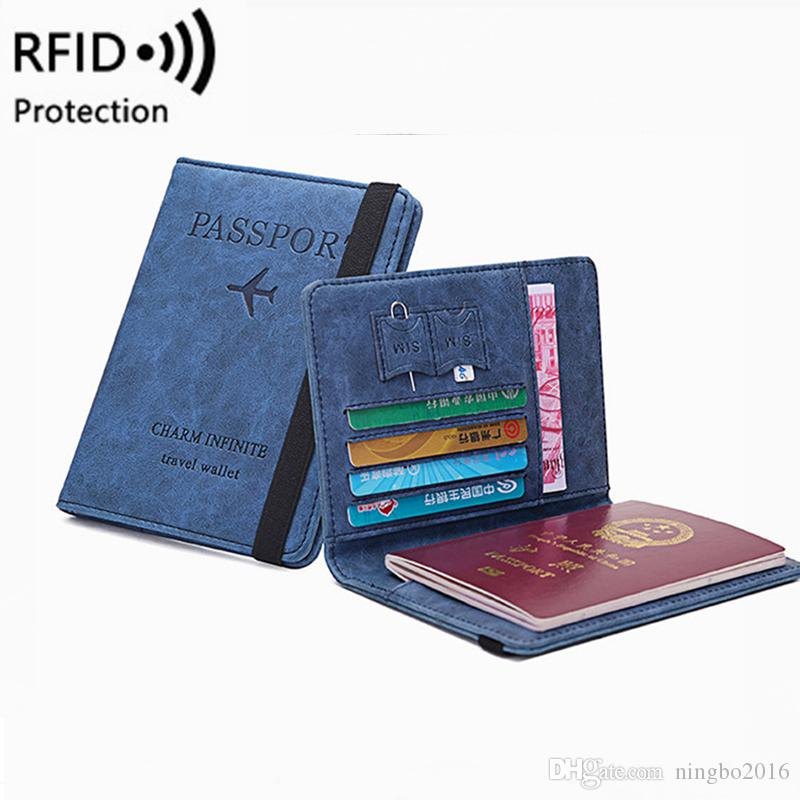 RFID старинные бизнес-паспорта обложки держатель многофункциональный ID банковская карта женщины мужчины PU кожаный бумажник чехол дорожные аксессуары