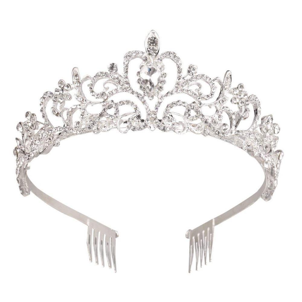 Womens Bridal  Wedding Crystal Tiara Crown Girls Headband Party Prom
