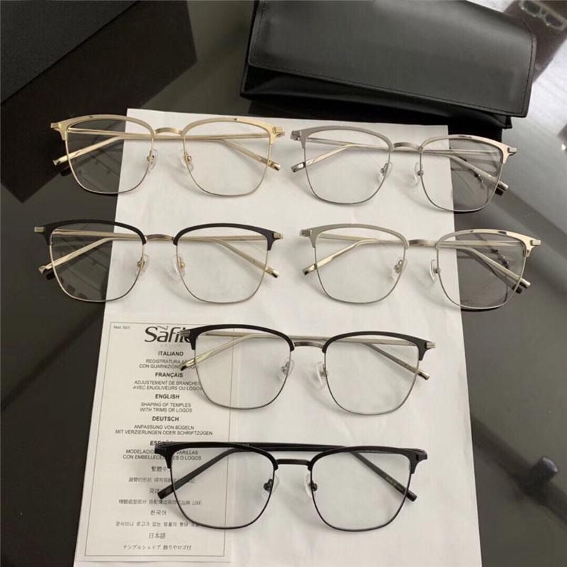 All'ingrosso - Occhiali da vista donna con lenti trasparenti 151 montatura in metallo occhiali eleganti Retro stile personalità optical top quality con custodia