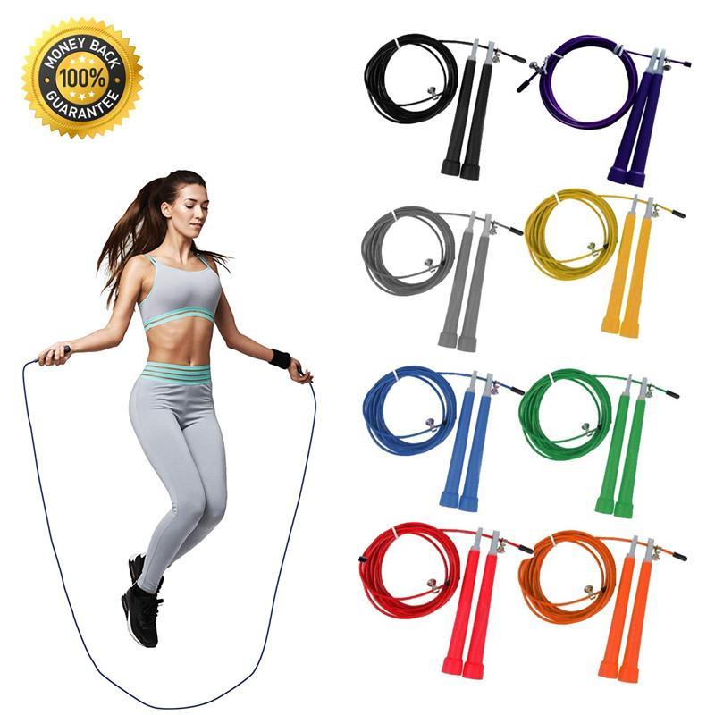 Meslek Ayarlanabilir Hızlı Hız Atlama İp Crossfit Egzersiz Eğitimi İp Atlama Boks Spor Ekipmanları 3M Çelik Tel