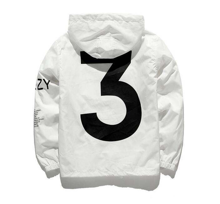 ffb2aff42 KANYE Jacket Men KANYE Hip Hop Windbreaker TOUR 3Jackets Meh Women  Streetwear Fashion Outerwearuniform Coat Black White YEEZUS Y3 Jacket Yee  Mens Fall ...