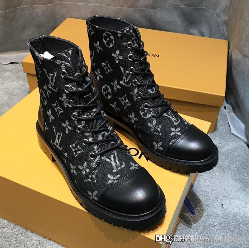 Heat nuove donne del progettista di lusso Scarpe Passerella donne Martin stivali delle donne di lusso Stivali Sneakers superiore Size 35-41 con box