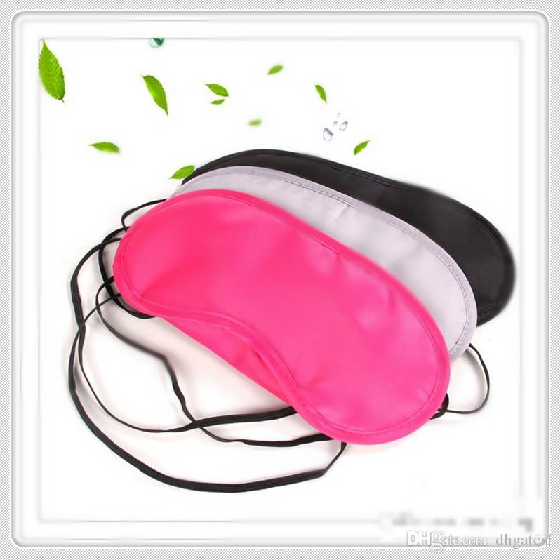 Máscaras de ojo del sueño caliente de poliéster esponja sombra máscara cubierta de la siesta para los ojos vendados del recorrido el dormir suave de poliéster máscaras Vision Care