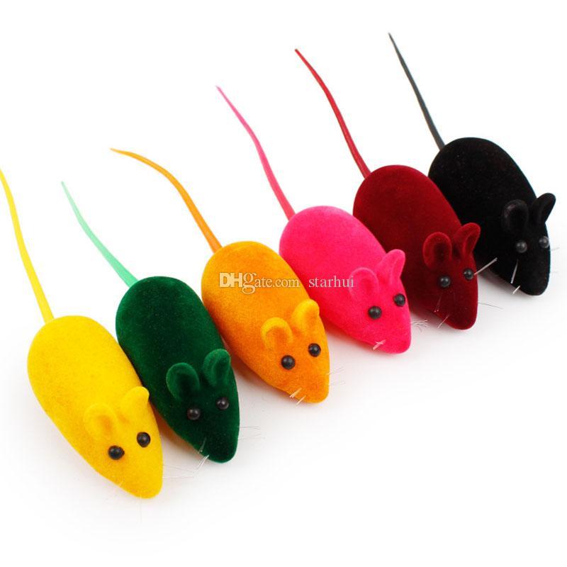 لعبة الفأر جديدة ليتل الضوضاء صوت صرير الفئران اللعب هدية المحاكاة الفراء الماوس هريرة القط لعب مستلزمات الحيوانات الأليفة DHL WX9-1882