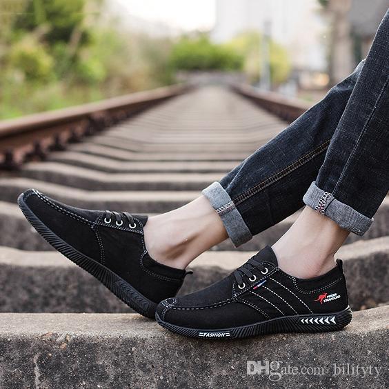 2019 Sale alta calidad más nueva simples style4 barato tela blanca azul formadores zapatos cómodos gris oscuro deportes para hombre zapatillas de deporte casuales 38-46