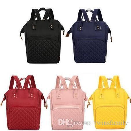 Пеленки сумки Рюкзак Мамочка Подгузники сумки High Capacity Mother Материнство рюкзак цвета конфеты Модельер Открытый мешок перемещения C1574