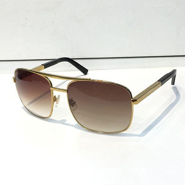 0260 güneş gözlüğü unisex tarzı UV400 Koruma Altın Kaplama Çerçeve Gözlük Gel Erkekler Kare Gövde için klasik tutum güneş gözlüğü kutusu ile birlikte gelir